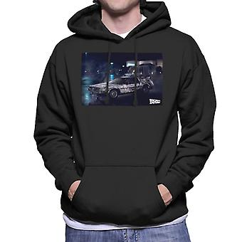 Back to the Future Delorean Cinematic Design Men's Hooded Sweatshirt