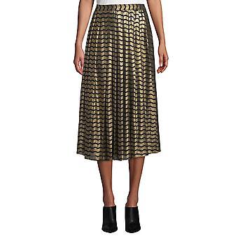 MICHAEL Michael Kors | Wavy-Striped Metallic Skirt