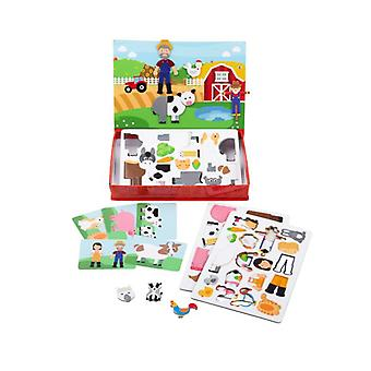 Bigjigs Mag-Play Meadow Magnets & Magnetic Storytelling Board