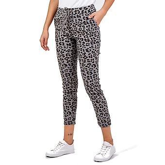 Baby Leopard Magic Pants Stretchy Trousers | Charcoal | One Size