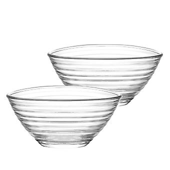 LAV Derin Medium Glass Snack Snack Bowls - 200ml - Pack de 6