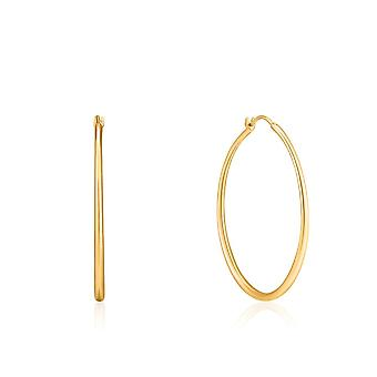 Ania Haie Luxe Minimalism Shiny Gold Luxe Hoop Earrings E024-04G