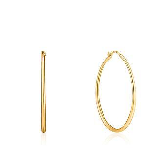 Ania Haie Luxe Minimalizm Parlak Altın Luxe Çember Küpe E024-04G