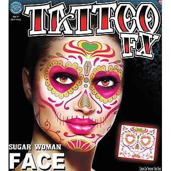 Tinsley Transfers Face Tattoo (Sugar Woman)