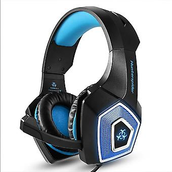 Game headset large rgb light-emitting wired headphone