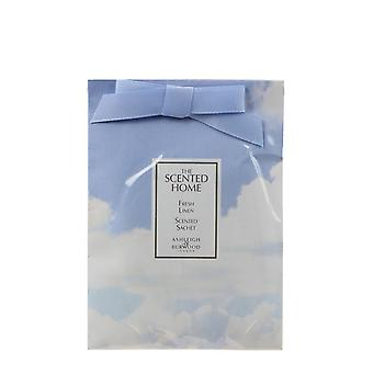 Fresh Linen Scented Sachet 20 by Ashleigh & Burwood