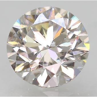 Zertifiziert 0.53 Carat E VVS1 Round Brilliant Enhanced Natural Diamond 5.17mm 3EX