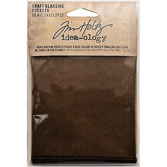 Tim Holtz Idea-ology Kraft Glassine Pockets - ATC Envelopes