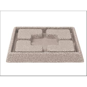 Stewart Decorative Saucer Square Sandstone 25cm 5134080