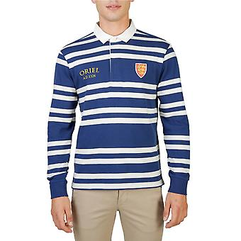 Oxford university men's long sleeves polo shirt  - oriel-rugby-ml