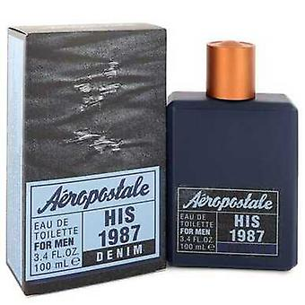 Aeropostale His 1987 Denim By Aeropostale Eau De Toilette Spray 3.4 Oz (men) V728-549551