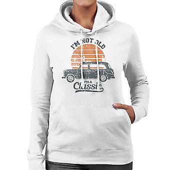 London Taxi Company TX4 Im Not Old Im A Classic Women's Hooded Sweatshirt