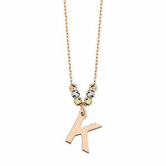 Collar de oro Letra K