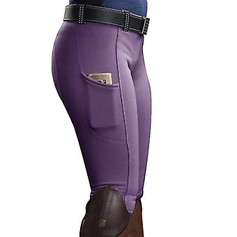 Women's Riding Elastic Compression High-waist Sports-leggings Belt Training