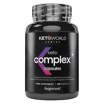 Keto Complex Capsules  - Premium Keto Diet Capsules  For Weight Management & Energy. Pure Keto Capsules x 120, With MCT Oil & Raspberry Ketones