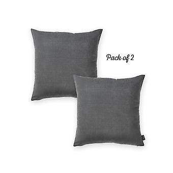 """Honey Grey Square 18"""" Throw Pillow Cover  (set Of 2)"""