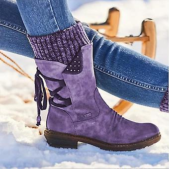 المرأة في فصل الشتاء الأحذية الثلج الساق منتصف، أنثى الفخذ عالية دافئ عالية الجودة الأحذية