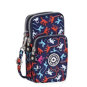 nye kvinner lommebok leopard print dame lerret clutch mynt telefon kortholder bag
