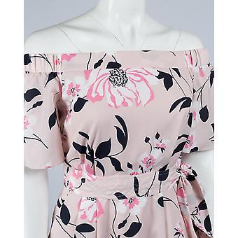 Asiatisch inspiriert Floral Off The Shoulder Shift Kleid mit Detachatable