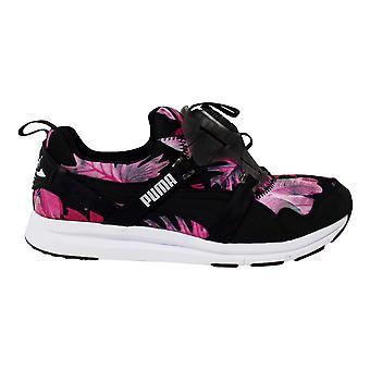 Puma женский диск Tropicalia Черный текстиль цветочные тренеры 355925 01
