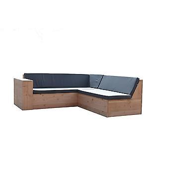 Wood4you - Loungeset 1Douglas 220x200 cm - GL-förmige Inkl. Kissen