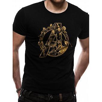 Avengers Unisex Yetişkin Bir Logo Tasarım T-Shirt