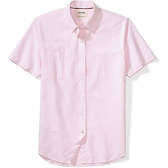 Goodthreads Men's Slim-Fit Short-Sleeve Solid Oxford Shirt with Pocket, Pink,...