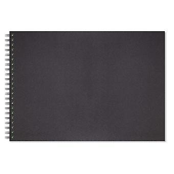 Artgecko edlen Skizzenbuch - 80 Seiten (40 Blatt) 150gsm säurefrei weiße Patronenpapier (a3 landsca