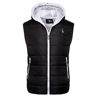 Nueva chaqueta de invierno con capucha chaleco con cremallera sin mangas casual waistcoat