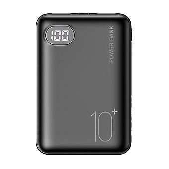 Mobilní telefon Přenosné nabíječka Led Powerbank (černá)