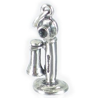 Stick Telephone Sterling Silver Charm .925 X 1 Old Style Phone Charms - 2668