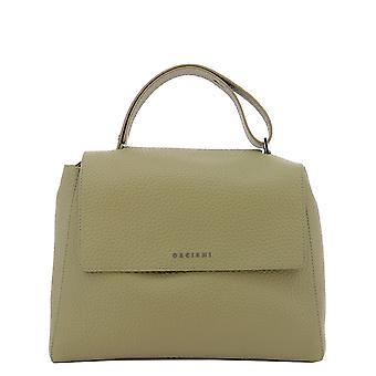 Orciani Bt2006softkaki Women's Green Leather Handbag