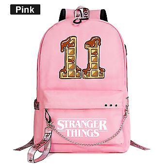 Waffle Stranger Things Youth Schoolbag Casual Ribbon Sac à dos