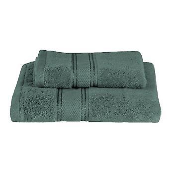 Asciugamano Ospite Colore Verde in Cotone, L40xP60 cm, L60xP100 cm