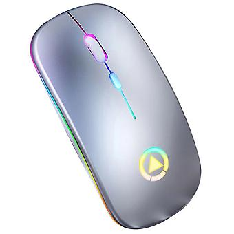 Wireless Silent Ultra Thin Optical Mouse Led Backlit Mice