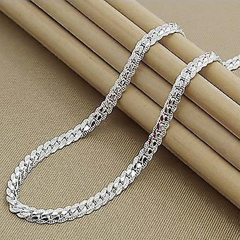 Largeur 5mm 925 Sterling Silver Link Chain Necklace