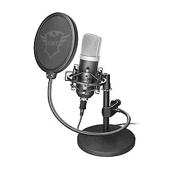 Trust gaming gxt 252 emita studio usb microphone and stand for pc and laptop, usb connected - black