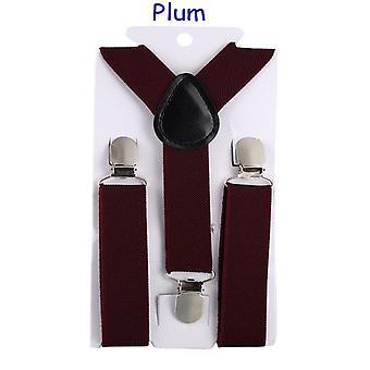Elastic Leather Suspenders Baby Three Clips Braces Vintage For Weddings