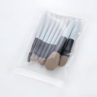 Makeup brushes set 8 pieces professional make up brush light blue hzs-12