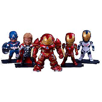5szt Avengers Rysunek Toy Ironman Hulk Spiderman Anime Doll Model