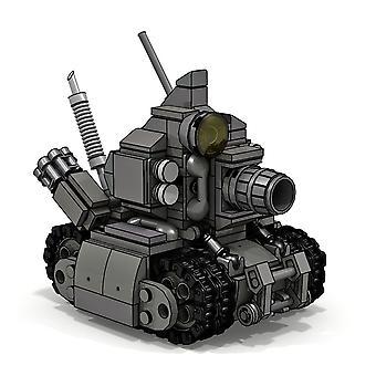 345pcs Moc Micro Tank Brick Modèle Petit bloc de construction de particules