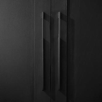 Keraaminen ovennuppi - valkoinen / kulta - raita
