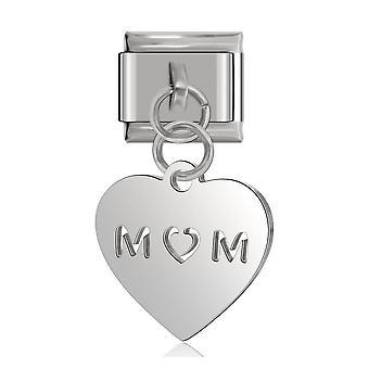 New Daisy Heart Flower Italian Charm Fit Bracelet, Stainless Steel Jewelry