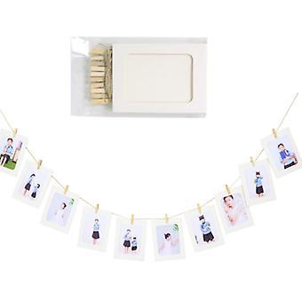 DIY fotolijst wanddecoratie bruiloft hout clip papier fotolijst envelop stijl kleur fotolijst