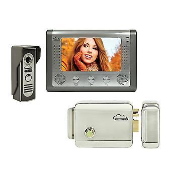 SilverCloud House 715 Video Intercom Kit so 7-palcovým LCD a SilverCloud YL500 Elektromagnetickým Yala