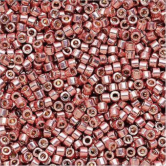 Miyuki Delica Rocailles, 11/0 Maat, 7.2 Gram, Duracoat Gegalvaniseerd Donker Koraal DB1839