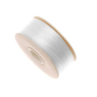 NYMO Nylon Beading Thread Size B for Delica Beads White 72YD (66 Meters)