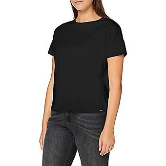 Scotch & Soda Short Sleeve Tee i Mercerised Jersey Quality T-Shirt, Svart 0008, XS Woman