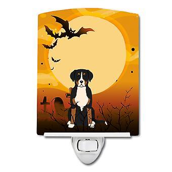 Caroline Schätze Halloween Groß Schweizer Berg Hund Keramik Nachtlicht, 6 x 4, multicolor