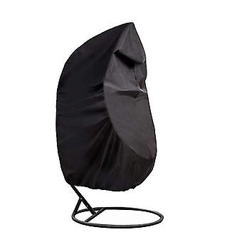 190X115cm black outdoor swing chair eggshell cover, rattan swing cover, dust proof and rainproof az8895